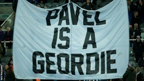 Pavel Is A Geordie' flag
