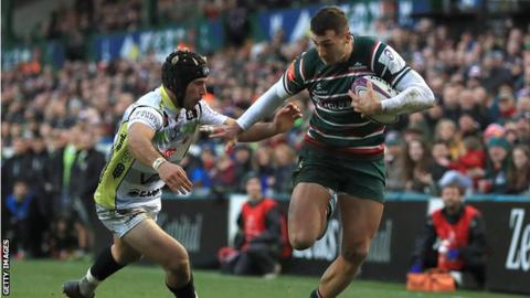 Leicester Tigers winger Jonny May has scored 27 tries for England