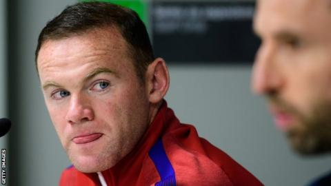 Wayne Rooney at an England press conference