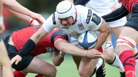 Rory Best attempts a burst in France