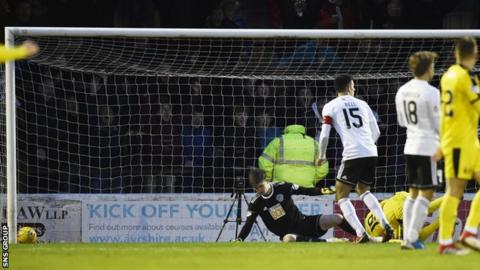 An error from goalkeeper Ross Doohan led to Zak Rudden scoring for Falkirk