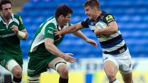 Centre Ollie Devoto ran in the second of Bath's two first-half tries in their win at London Irish