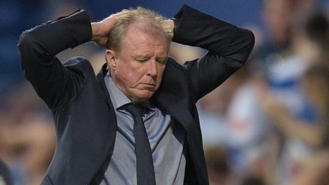 QPR manager Steve McClaren reacts on the sidelines