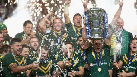 Australia celebrate winning the 2013 World Cup