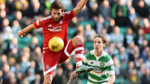 Graeme Shinnie and Stefan Johansen