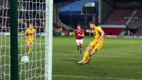 Matt Harrold converts from the spot to give Leyton Orient victory at Wrexham