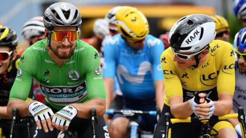 Peter Sagan and Geraint Thomas