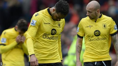 Aston Villa suffer relegation