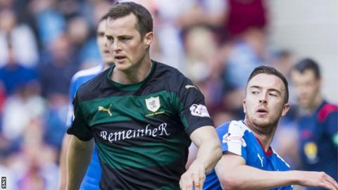 Raith Rovers' Jon Daly in action against Rangers