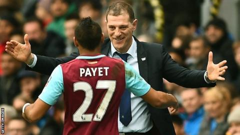 Slaven Bilic and Dimitri Payet