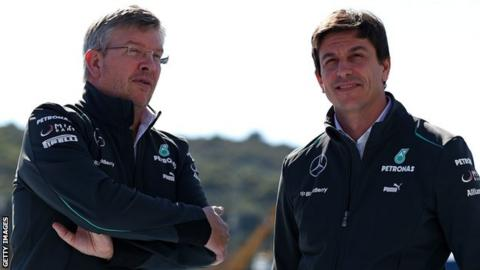 Ross Brawn and Toto Wolff