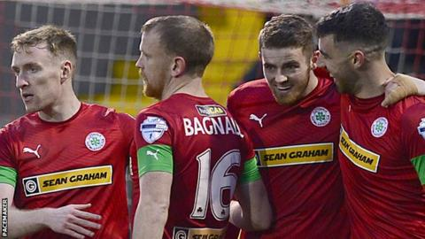 Cliftonville beat Ballymena United