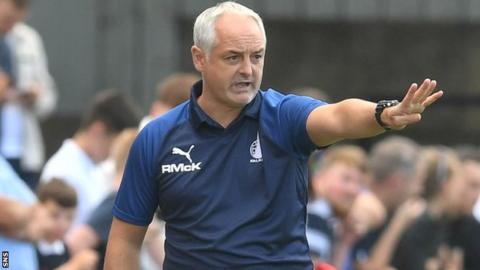 Falkirk were relegated to the third tier under McKinnon