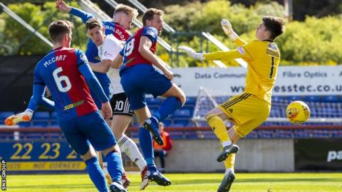 Coll Donaldson headed in the equaliser for Inverness