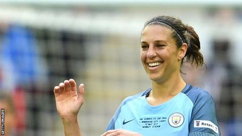 Carli Lloyd played in the Women's Super League with Manchester City in 2017