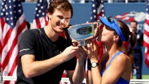 Andy Murray and Martina Hingis