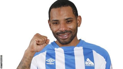 Jason Puncheon in his new Huddersfield kit