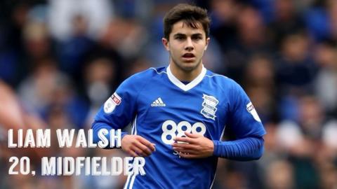 Birmingham midfielder Liam Walsh