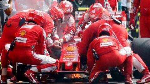 Ferrari F1 driver Kimi Raikkonen