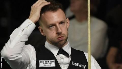 Judd Trump during his UK Championship defeat by Nigel Bond