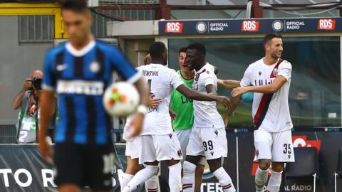 Inter are beaten by Bologna