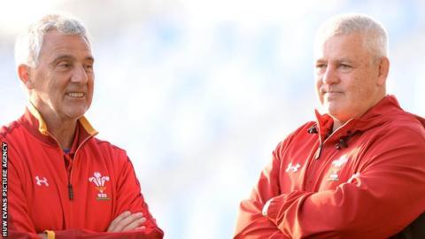 Gareth Davies and Warren Gatland