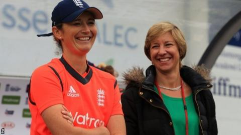 England captain Charlotte Edwards with Clare Connor