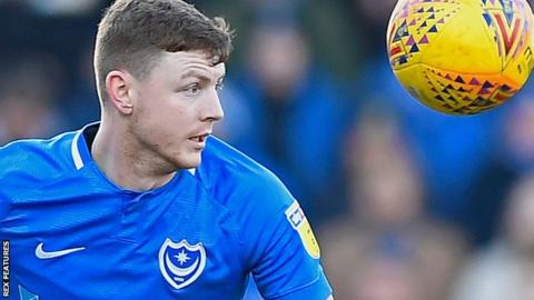 Dion Donohue playing for Portsmouth