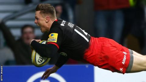 Saracens wing Chris Ashton left out of England squad