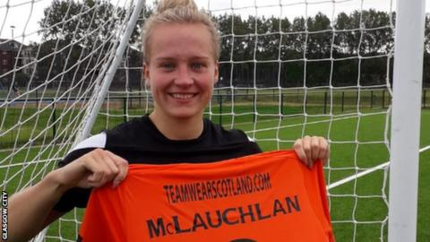 Rachel McLauchlan and her Glasgow City top