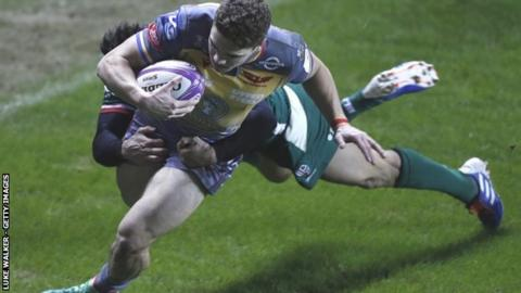 Corey Baldwin scored Scarlets' opening try - just as he did in the 20-16 home win against London Irish in November