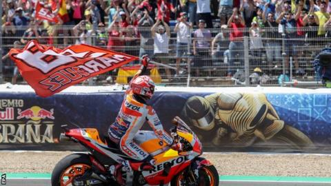 Marquez wins in Spain and takes MotoGP lead