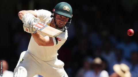 Australia's Shaun Marsh plays a shot during the Ashes series against England