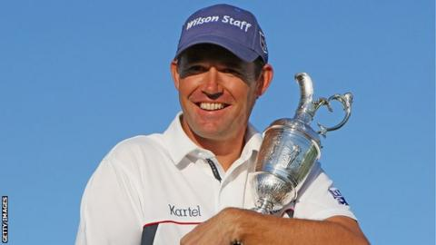 Padraig Harrington with The Claret Jug after winning the 2008 Open Championship