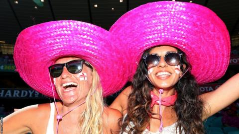 Supporters at the match were also encouraged to wear pink