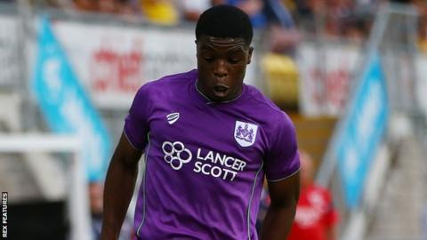 Kel Akpobire in a pre-season friendly for Bristol City