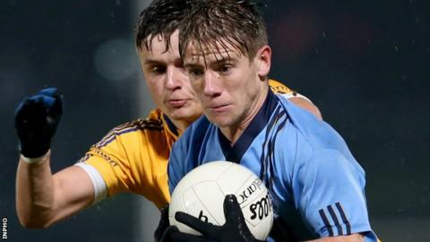 Mark Bradley was inspirational for Killyclogher hitting 0-8 in the Tyrone SFC final replay win over Coalisland