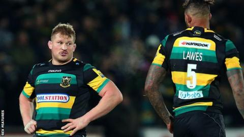 Dylan Hartley (left) with Courtney Lawes