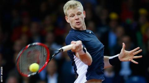 British tennis player Kyle Edmund