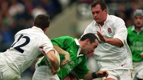 O'Shea's final game in an Ireland shirt was the 50-18 defeat by England in 2000
