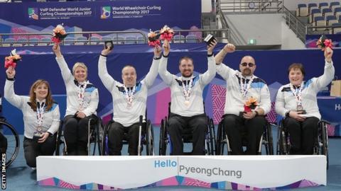 Scotland wheelchair curling team