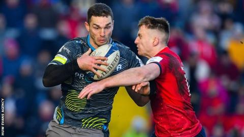 George North has started four of his 91 Test appearances for Wales in the centre