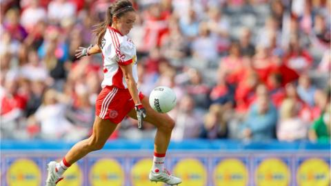 Half-forward Niamh Hughes netted Tyrone's second as the Ulster county dominated the early exchanges in the Intermediate final