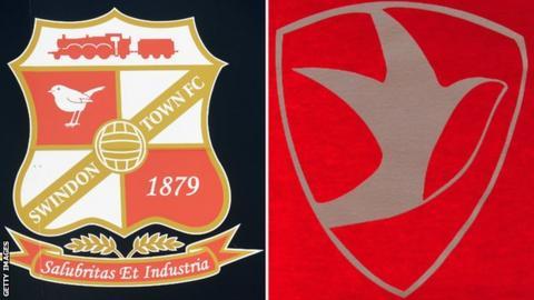 Swindon and Cheltenham's logos