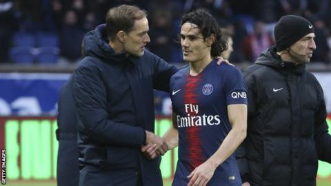 Tuchel believes it'll be 'super difficult' for Cavani to face Manchester United