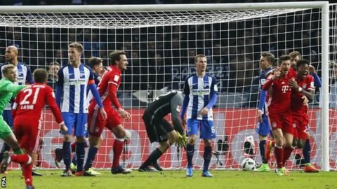 Bayern Munich score last-minute leveller