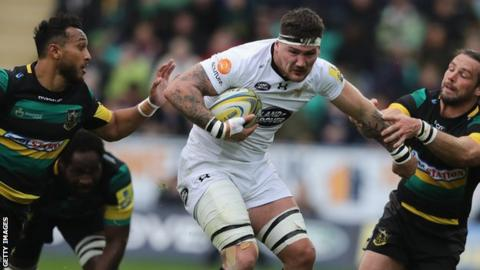 Guy Thompson in action for Wasps