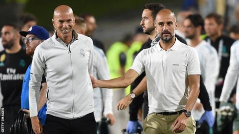 Zinedine Zidane and Pep Guardiola