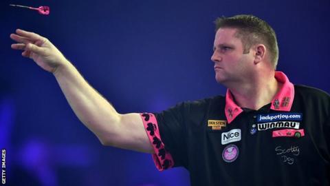 Scott Mitchell in action at last year's BDO World Darts Championships