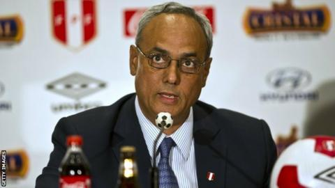 Former Peruvian football chief Manuel Burga
